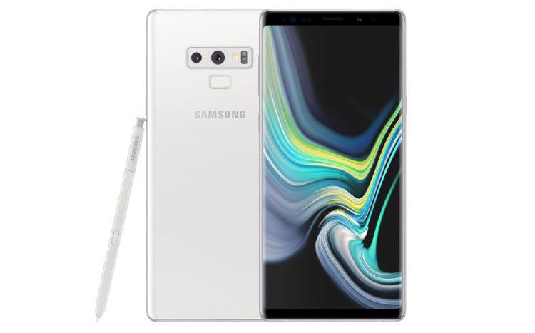 Фаблет Samsung Galaxy Note 9 предстал в белоснежном исполнении