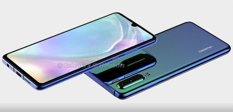Рендеры раскрыли дизайн мощного смартфона Huawei P30