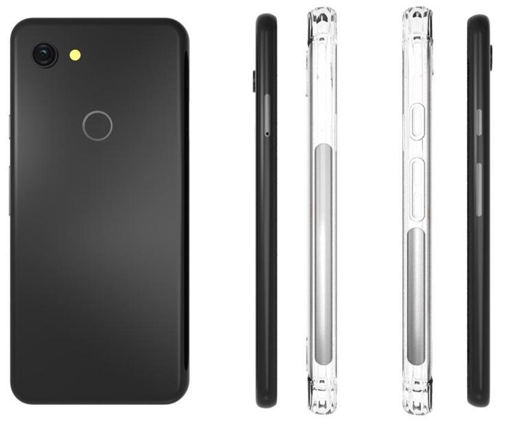 Утечка производителя чехлов раскрыла дизайн смартфона Google Pixel 3 Lite