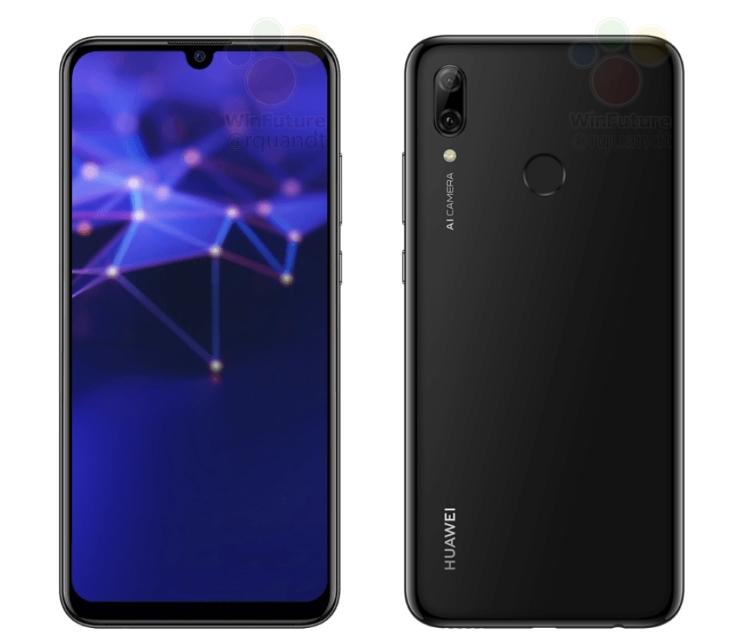Смартфон Huawei P Smart 2019 показался на официальных рендерах