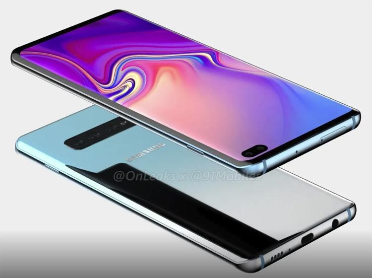 Рендеры смартфона Samsung Galaxy S10+ говорят о наличии пяти камер