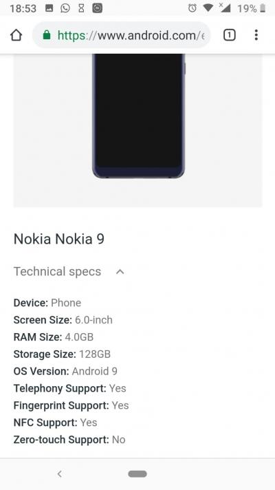 Cайт Google для предприятий раскрыл подробности о Nokia 9 PureView