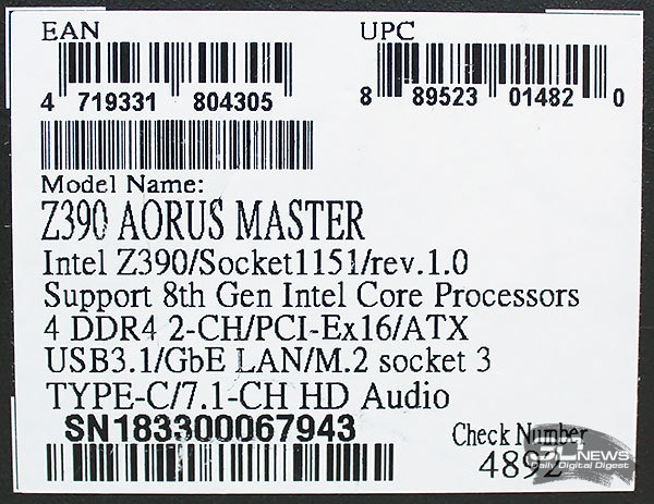 Новая статья: Обзор материнской платы Gigabyte Z390 AORUS Master: взлёт сокола