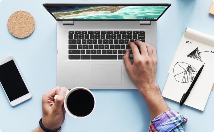 ASUS представила свой первый 15-дюймовый хромбук — Chromebook C523