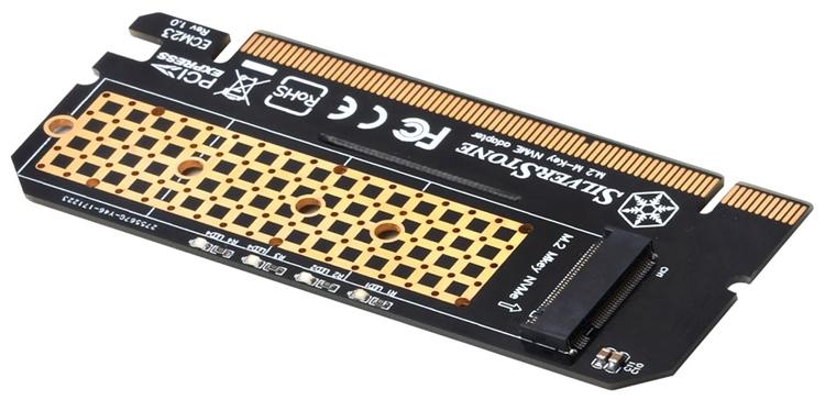 Адаптер SilverStone ECM23 позволит установить SSD-модуль M.2 в слот PCIe
