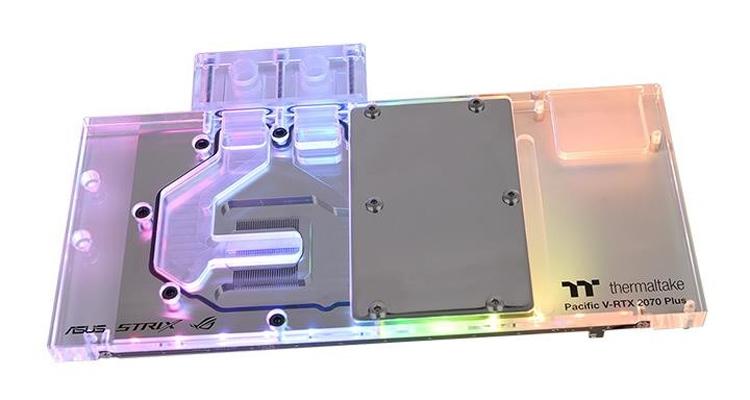 Водоблок Thermaltake Pacific V-RTX 2070 Plus рассчитан на видеокарты ASUS