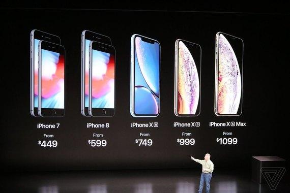 Apple представила новинки: iPhone XS, X Max, Xr и Apple Watch Series 4