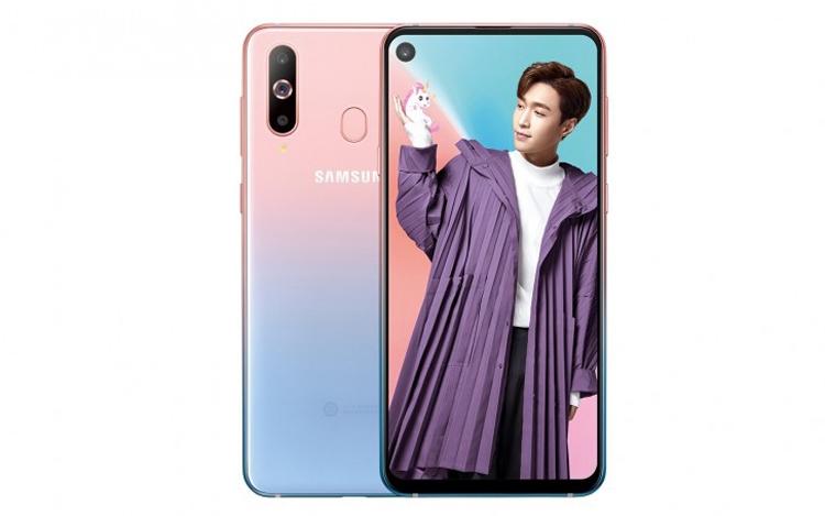 Смартфон Samsung Galaxy A8s предстал в градиентном исполнении Unicorn Pink