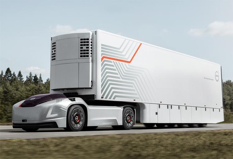 Volvo Vera, или Грузоперевозки на робомобилях без кабины